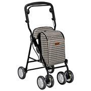 特高步TacaoF 助行器 辅助步行车 老人车 T-US05  黑粗线格子和棕细线格子可选 价格1117